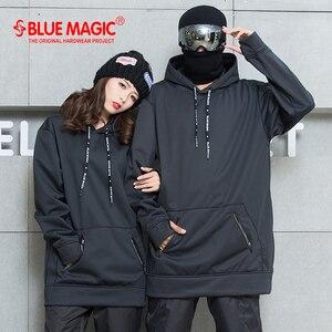 Bluesuck snowboard macio escudo combinado tecido longo moletom com capuz feminino & masculino à prova dwind água ternos de esqui à prova de vento