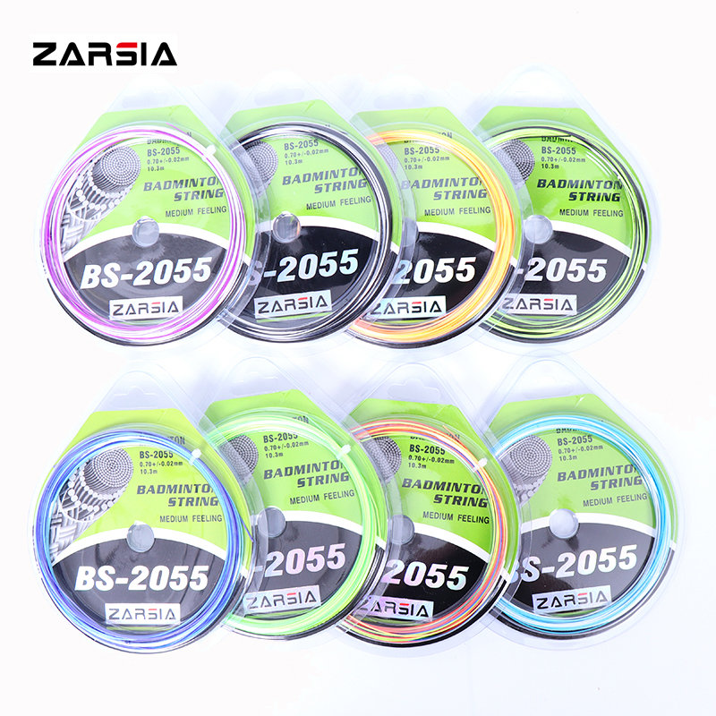 10 Pcs ZARSIA BS-2055 Rainbow Badminton String,Badminton Racket String,0.70mm Durable Badminton Strings