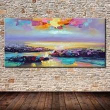 Mintura Art Ручная роспись пейзаж масляная живопись на холсте Современная Абстрактная Настенная картина декор для гостиной спальни без рамки