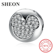 New arrival 925 sterling silver cute Mickey charms beads fit original pandora bracelet fashion diy Jewelry making for women gift new arrival charms sterling silver 925 hat beads fit original pandora charm bracelets diy jewelry accessory making for men gift