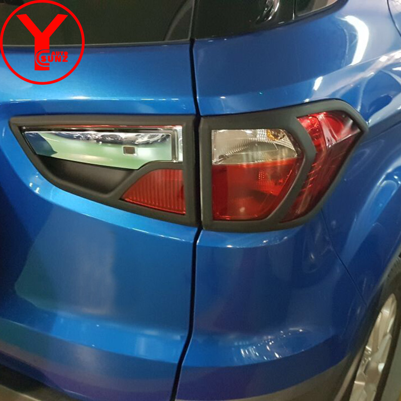 2015-2017 tail light cover For Ford Ecosport 2016 2017 black car accessories deflector lamp For Ecosport 2016 car styling YCSUNZ цена