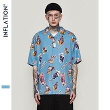 INFLATION hommes hawaïen chemise mâle décontracté drôle imprimé plage chemises à manches courtes été 2020 ample Fit hommes vêtements 9220S