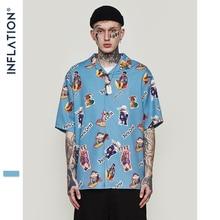 Мужская гавайская рубашка INFLATION, Повседневная пляжная рубашка с забавным принтом и коротким рукавом, летняя одежда свободного кроя для мужчин 2020 S, 9220