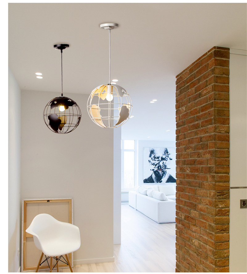 Nordic modern cord globe ball pendant light world map e27 lamp white nordic modern cord globe ball pendant light world map e27 lamp white and black for living room cafe bar loft vintage luminarias in pendant lights from gumiabroncs Images