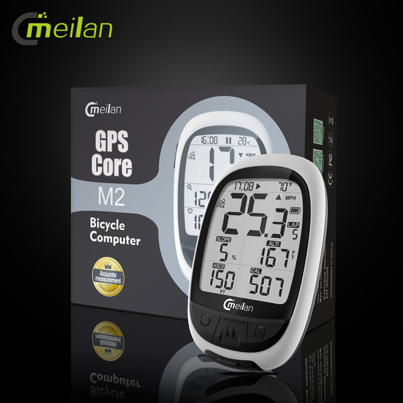 M2 GPS Bicycle Computer Wireless Speedometer Bluetooth ANT Bike Odometer Speed Cadence Sensor Heart Rate Monitor OptionalM2 GPS Bicycle Computer Wireless Speedometer Bluetooth ANT Bike Odometer Speed Cadence Sensor Heart Rate Monitor Optional