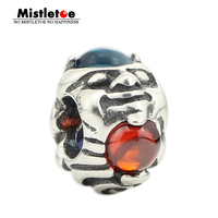 Natural Opal Faces Charm Bead Troll With Gems Beads 100 925 Sterling Silver Charm Beads Fits