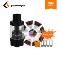 Original GeekVape Ammit 25 RTA Atomizer 2ml 5ml Single Coil Tank With 48pcs 8 In 1