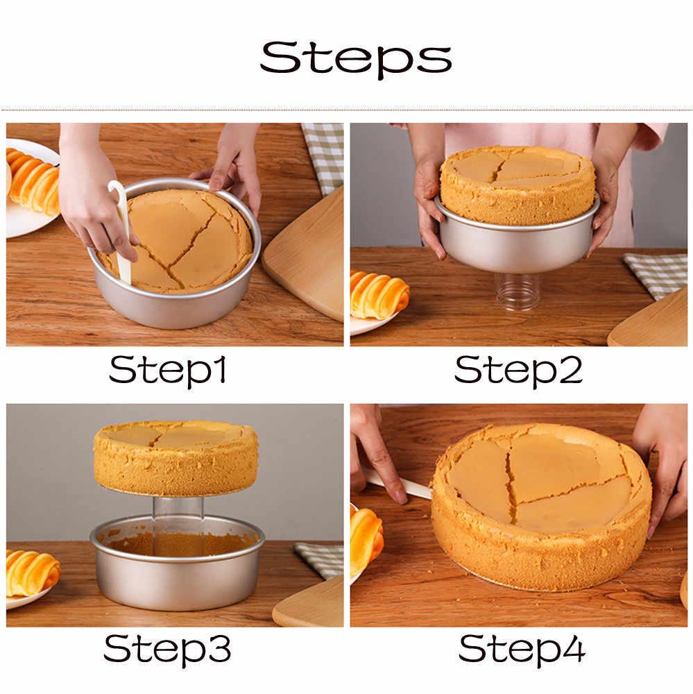 2/4/6/7/8 en aleación de aluminio molde de pastel herramientas de horno para hornear gasa molde de pastel antiadherente molde para hornear Pastel redondo herramienta para hornear