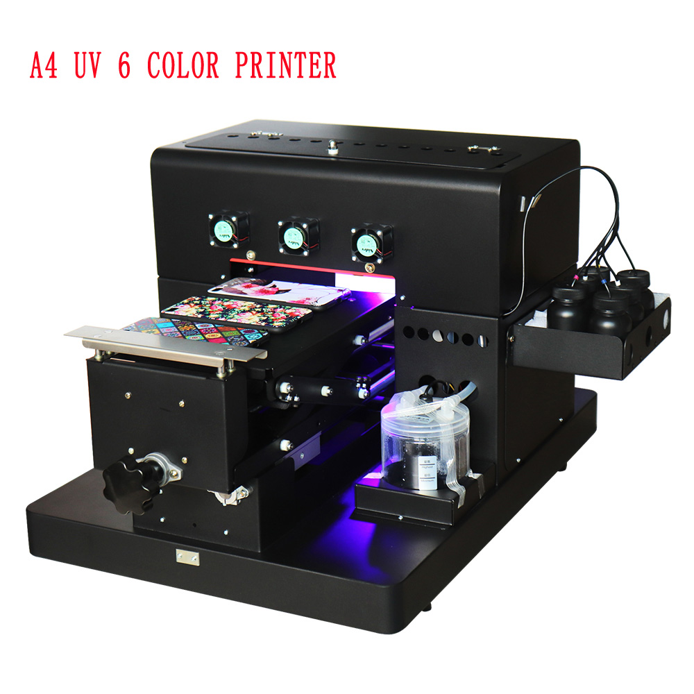 Mini A4 UV Printer Phone Case Printing Machine For Phone Case Multifunctional Printer For Wood Leather Plastic TPU  Printer