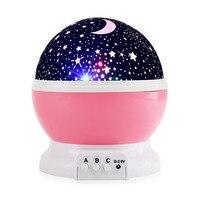 하늘 별이 빛나는 달 밤 빛 별 프로젝터 테이블 밤 램프 회전 Luminaria 배터리 USB 야간 조명 어린이 아기 침낭