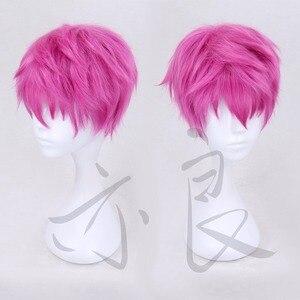 Image 2 - Die Katastrophalen Leben von Saiki K. Cosplay Perücke Saiki Kusuo Gerade Kurze Rosa Synthetische Haar + Perücke Kappe