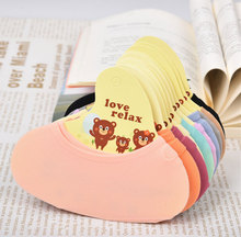 10 pairs/Pack Female Candy Colors Socks Women Invisible Antiskid Socks Sock Slippers Shallow Mouth Summer Solid Thin Sock