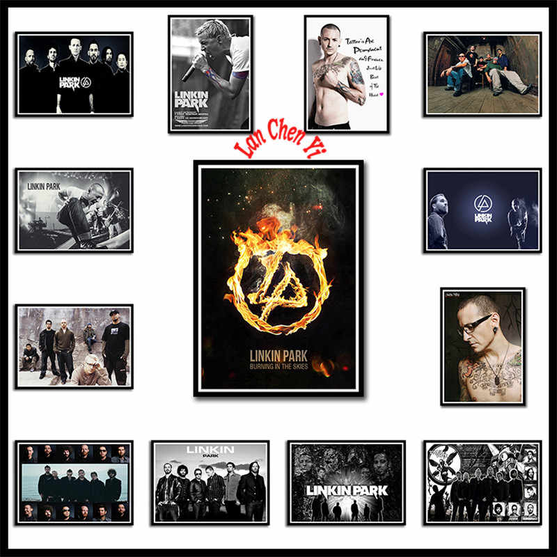Linkin park rock band Bianco Carta Patinata poster Musica Europea e Americana Star Pittura Decorativa Cafe bar poster