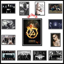 Linkin park rock band White Coated Paper posters European and American Music Star Decorative Painting Cafe bar