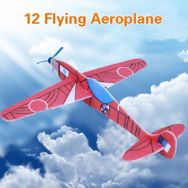 US $2 08 |12Pcs DIY Flying Glider Hand Throw Plane Foam Aeroplane Party Bag  Fillers Children Kids Toys Funny Game-in Diecasts & Toy Vehicles from Toys