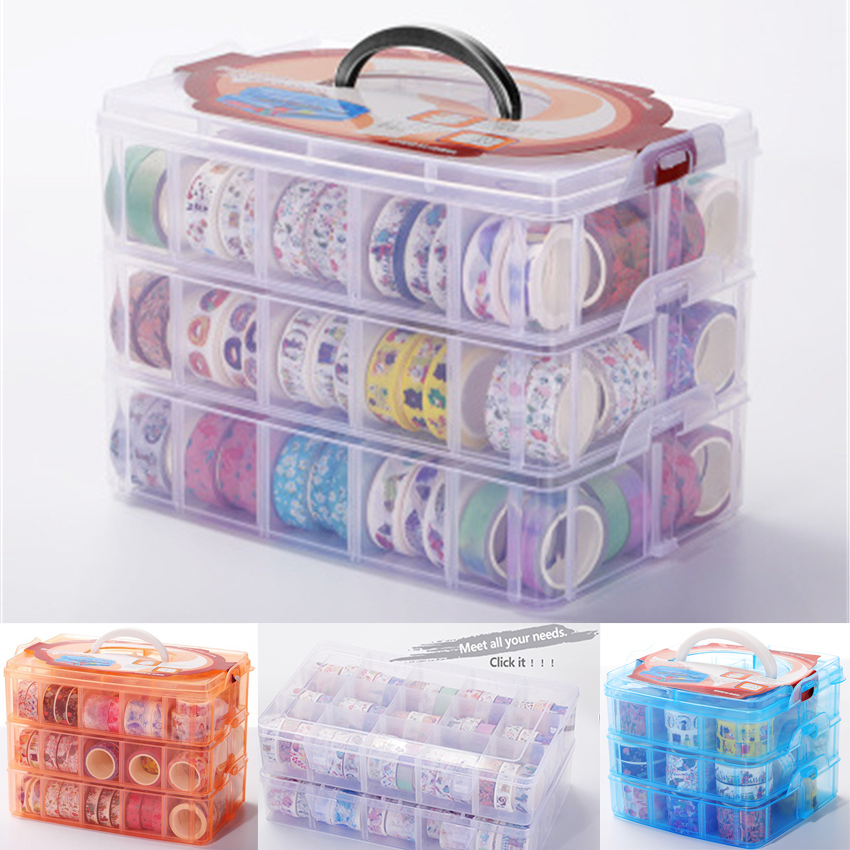 Multifunction Detachable Box Washi Tape For DIY Scrapbooking Storage Boxes Organizer Office Bullet Journal Supplies S602