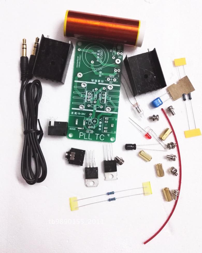 Mini music Tesla coil plasma speaker speaker science experims