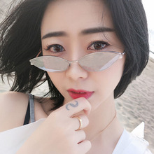 cat eye shade for women fashion sunglasses brand vintage retro triangular Small Size Modern Retro Designer Women Sun Glasses