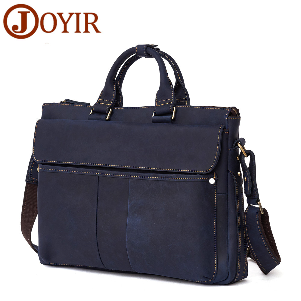 Herrentaschen Hell Joyir Marke Männer Aktentaschen Vintage Männlichen Handtasche Business Männer Laptop Echtem Leder Männer Umhängetasche Schulter Tasche QualitäT Und QuantitäT Gesichert