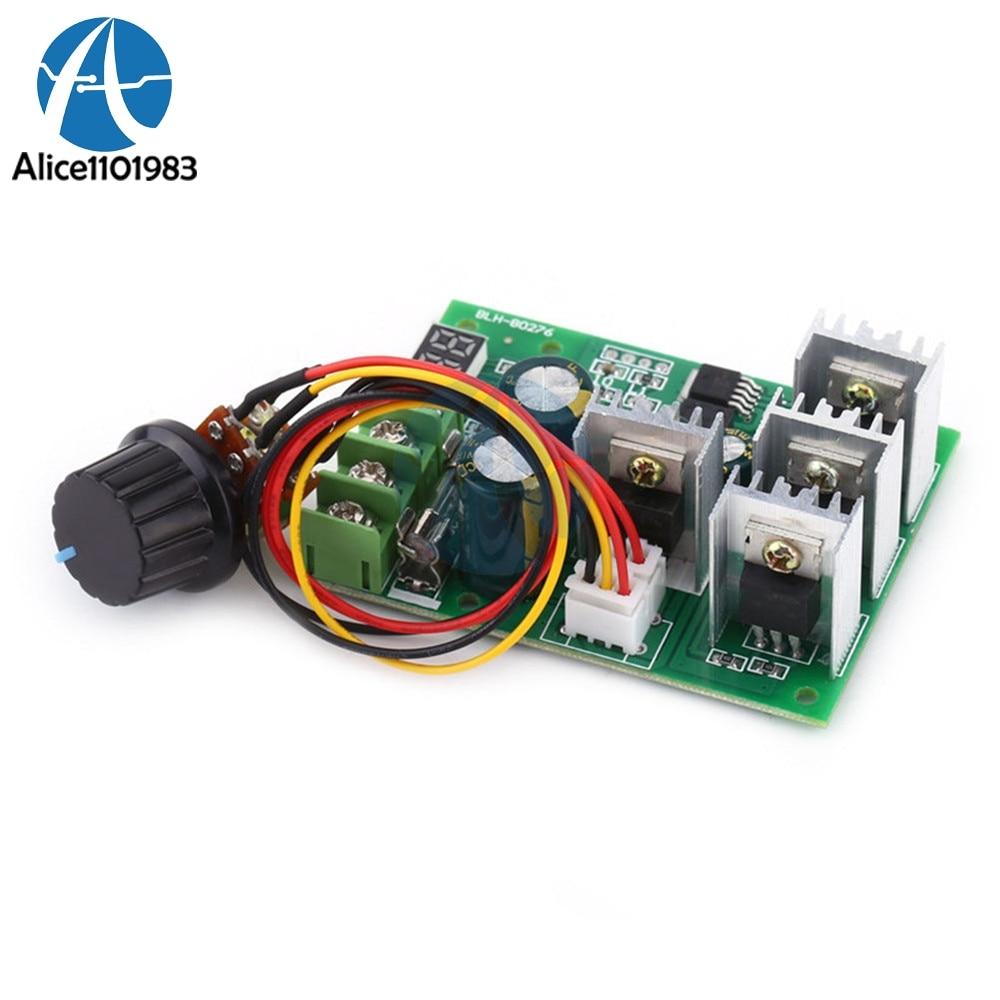 Display DC6-60V Motor Speed Controller Module Dimmer Current Regulator PWM 30A