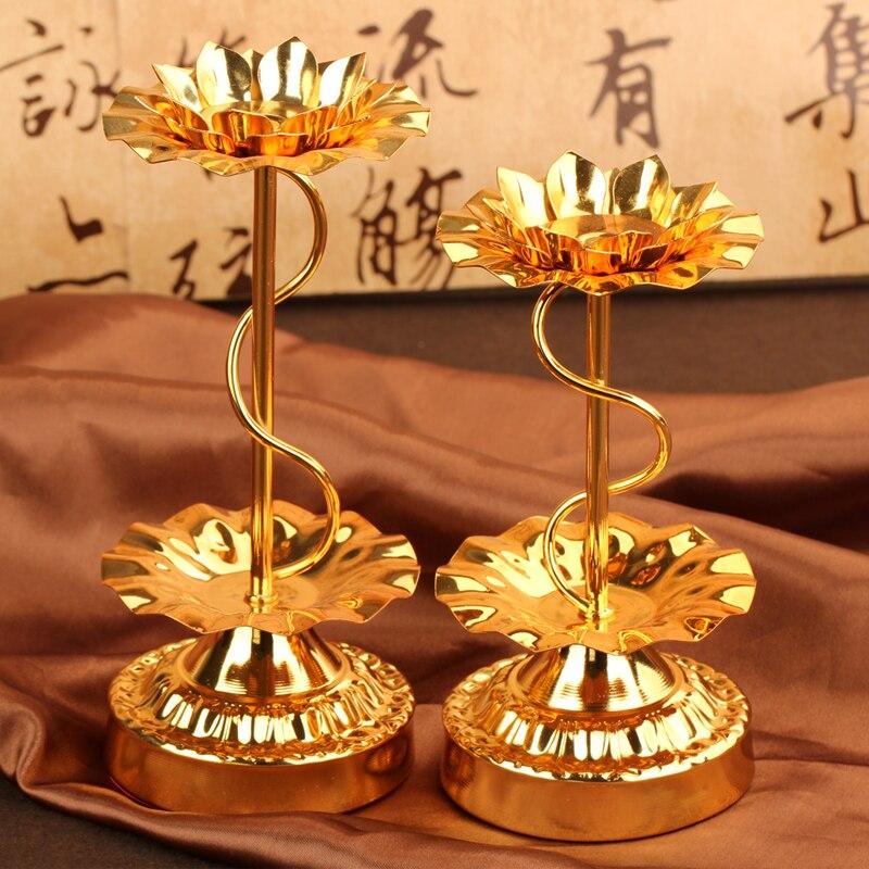 Lampe A Huile En Alliage Base Lotus Lampe Support Bougie Mousse A La
