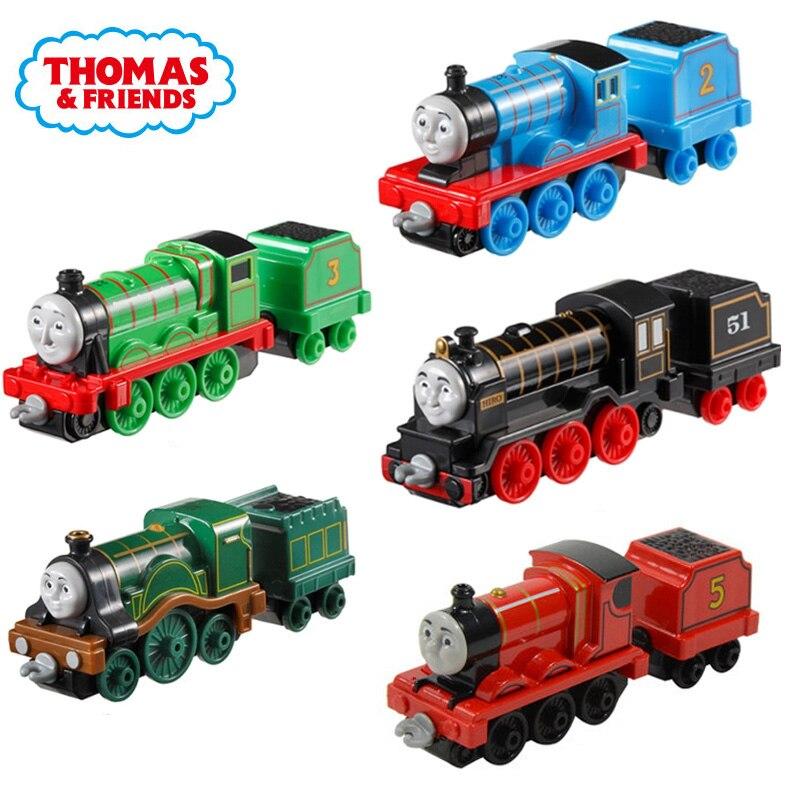 Thomas und Freunde Zug Mit Wagen Gordon Mini Züge Eisenbahn Zubehör Klassische Spielzeug Metall Material Spielzeug Für Kinder