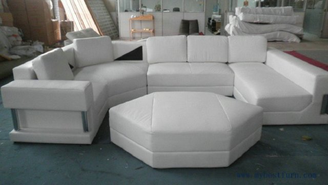 Free Shipping Large U Shaped Real leather Sofa Large house