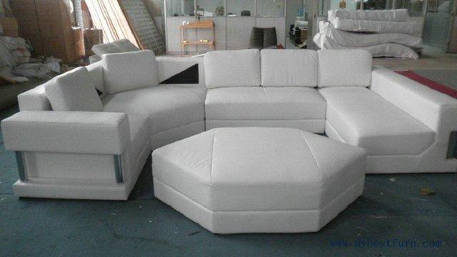 Free Shipping Large U Shaped Real Leather Sofa House Furniture Luxury Set