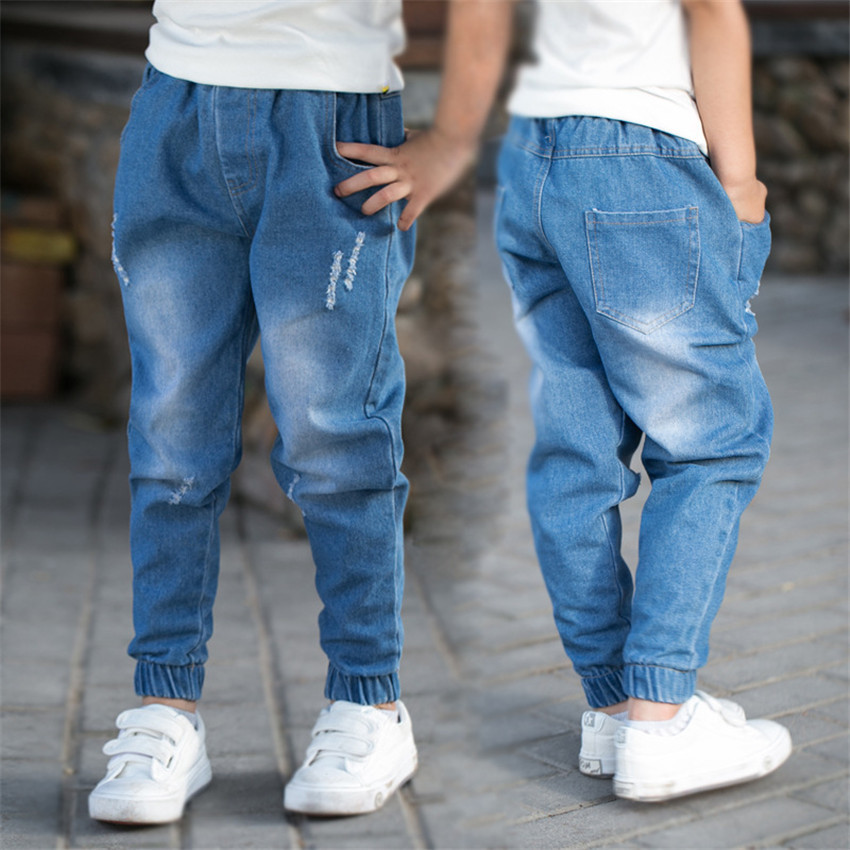 3-12 y boy kids jeans fashion denim pants for boys ripped jeans children teenager trousers 8 10 11 12 years old clothes On Sales(China)