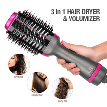 Multifunctional Hot-Air Brushes 3 In 1 Volumizer Hair Straightener Combs Curler