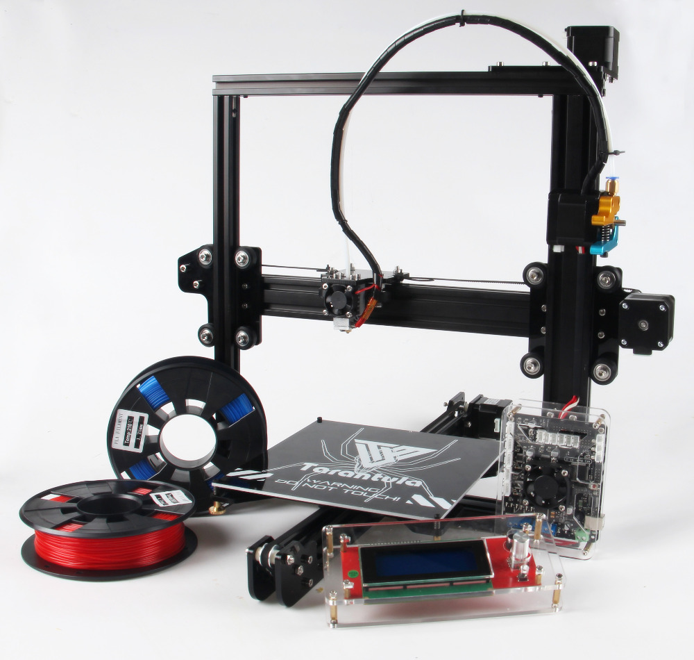 2017 Classic TEVO Tarantula I3 Aluminium Extrusion 3D Printer kit 3d printing 2 Rolls of Filament