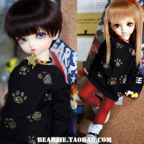 1/6 YOSD 1/4 1/3 BJD SD Doll accessories Bjd clothes black shirt 1 6 1 4 1 3 bjd sd dd doll accessories doll clothes red fleece for bjd sd doll
