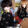 1/6 YOSD 1/4 1/3 BJD SD Doll accessories Bjd clothes black shirt