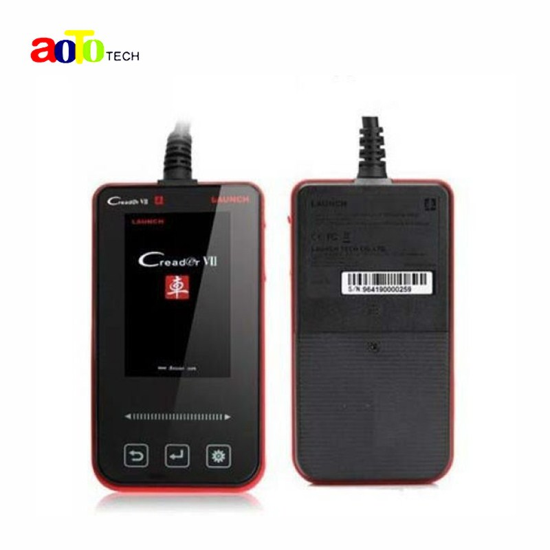 100% Original LAUNCH Creader VII Diagnostic Full System Code Reader with lowest Price 3 years warranty wholesale launch golo easydiag plus bluetooth diagnostic tool obd2 professional code reader enhanced code reader