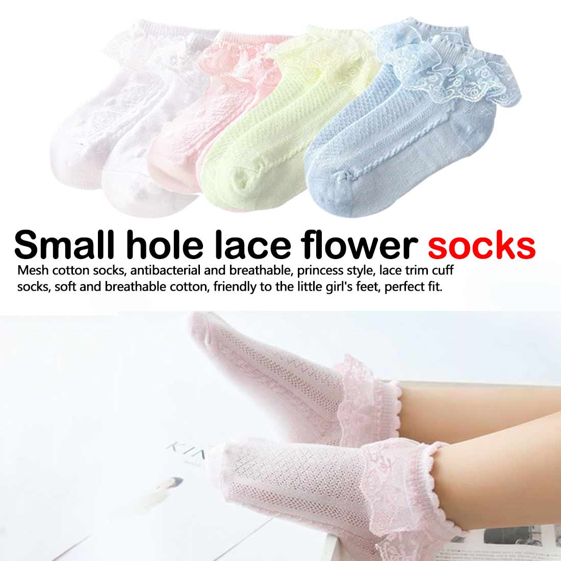 0 13Years Newborn Baby Cotton Socks Lace Princess Combed Cotton Socks for Girls Summer Spring Infant Babe Socks in Socks from Mother Kids