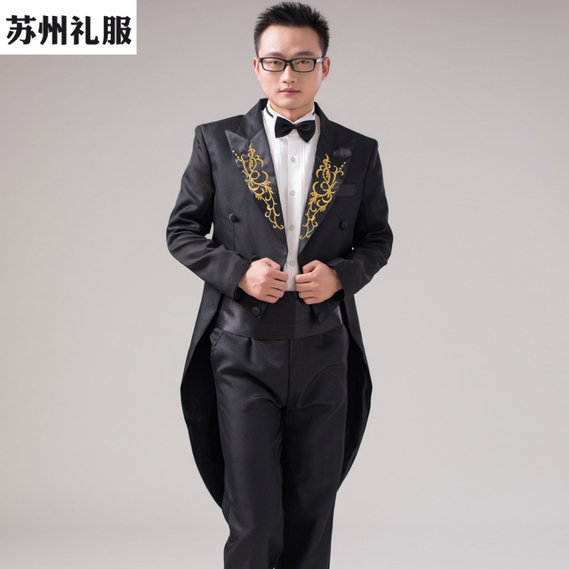 Cosplay Male male tuxedo formal male clothes tuxedo The magician performed  a costume masquerade costume suit cb651094a