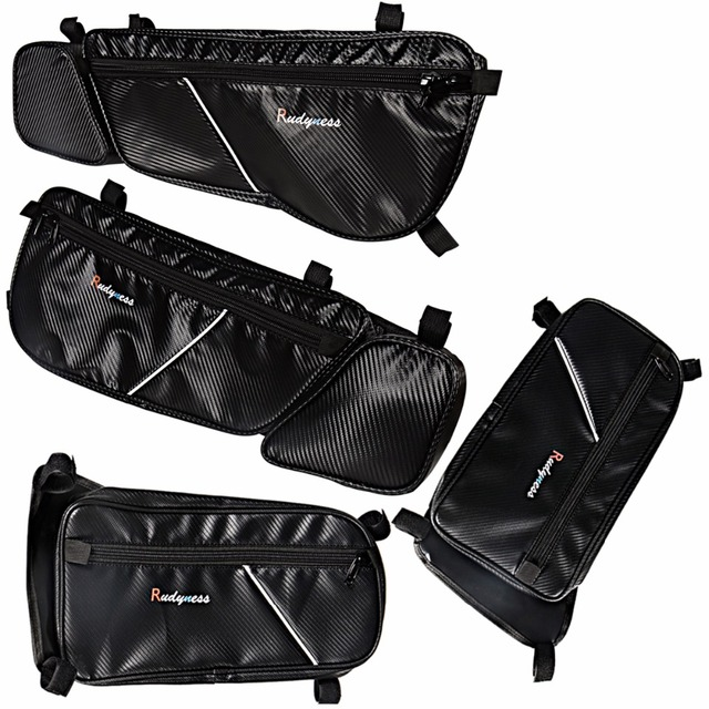 568e76801cf2 Front Rear Side Black Carbon Door Bags Pad For 2017-2018 Can-Am Can Am  Maverick X3
