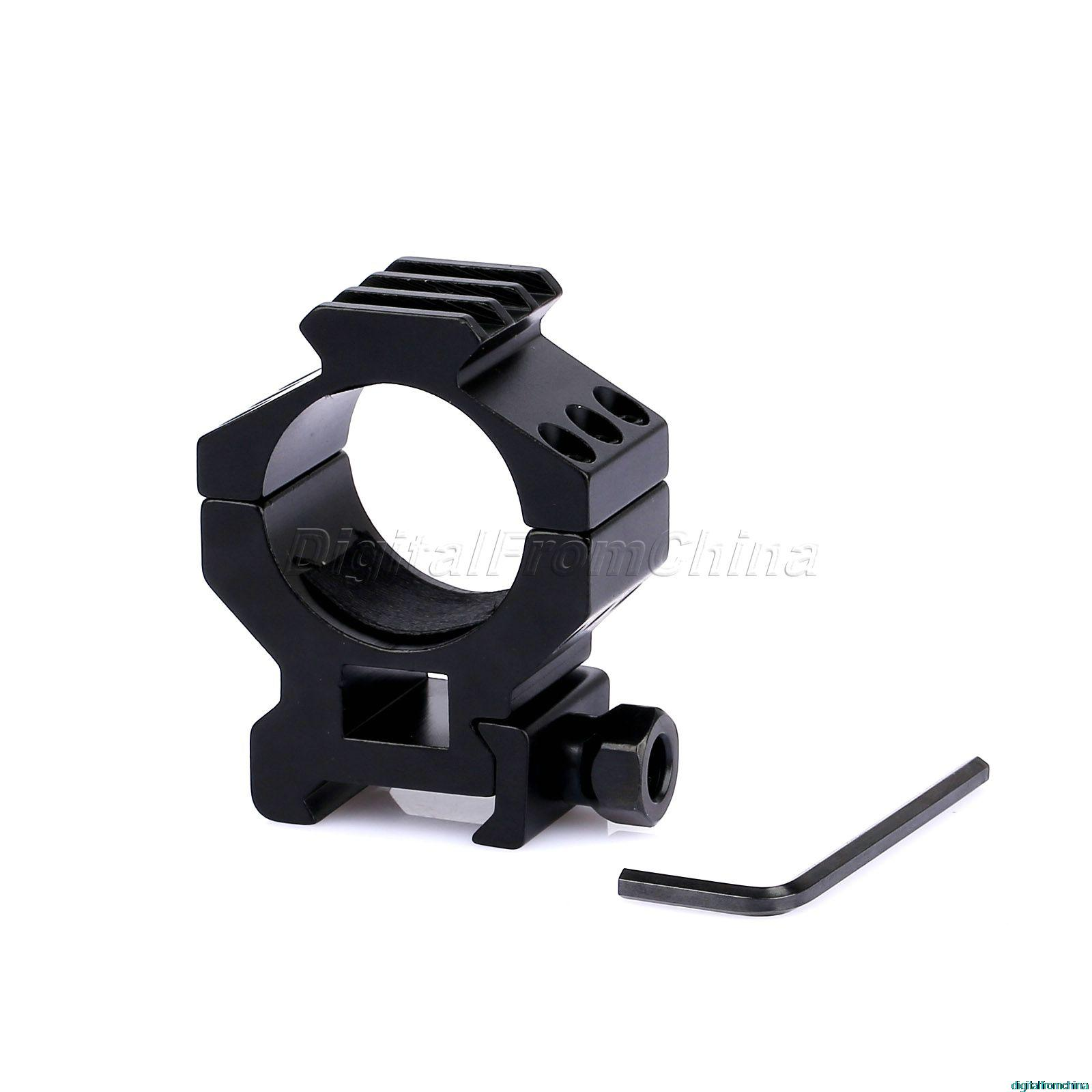 Aluminum Black 30mm Top Rail 3 Slots Torch Scope Mount Ring for 20mm Weaver Picatinny Rail