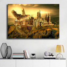 Harry Potter Hogwarts HD Wall Art Canvas Poster And Print Canvas Painting Decorative Picture For Office Living Room Home Decor(China)
