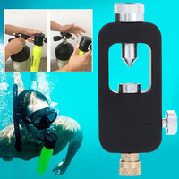 Water Lung Adapter Mini Diving Tank Black Scuba Transfer Underwater Equipment Diver Freedom Breath Pressure Durable