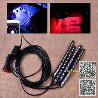 Car Interior 12 LED Strip Footwell Floor Neon Atmosphere Decoration Lamp Light Strip Music Control Phone