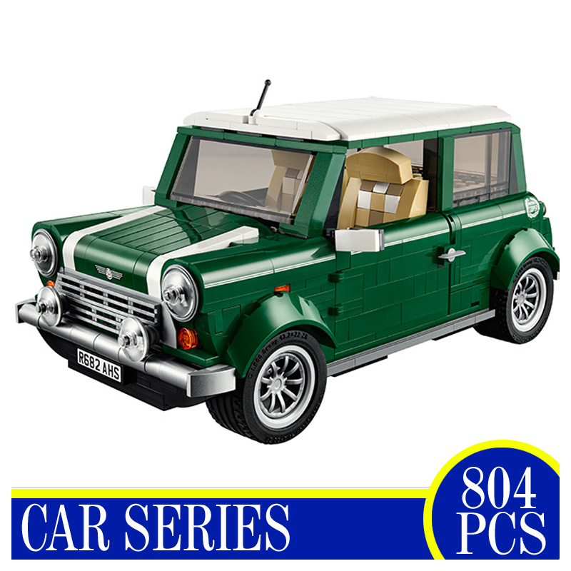 21002 804 PCS MINI Cooper Model Building Blocks Bricks Action Figures Educational Children Gifts Compatible With LEPIN 10242 free shipping lepin 21002 technic series mini cooper model building kits blocks bricks toys compatible with10242