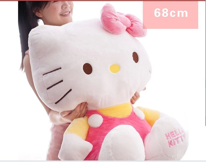 NEW STuffed animal pink hello kitty  about 68cm plush toy 26 inch soft Toy birthday gift wt970 stuffed animal 120 cm cute love rabbit plush toy pink or purple floral love rabbit soft doll gift w2226