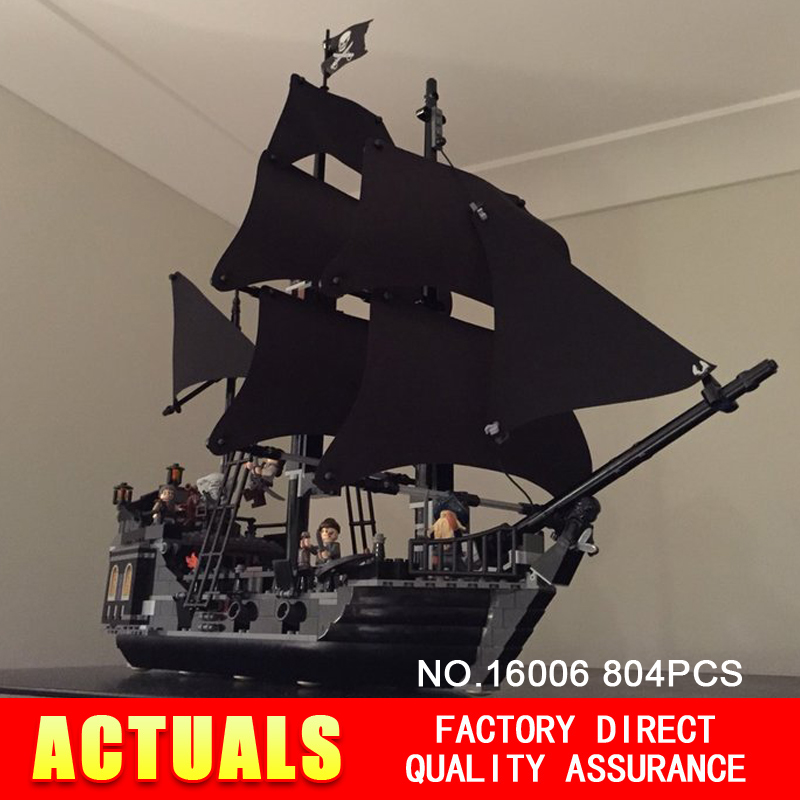 ФОТО 804pcs new lepin 16006 pirates of the caribbean the black pearl building blocks set mini figure compatible 4184 children gifts