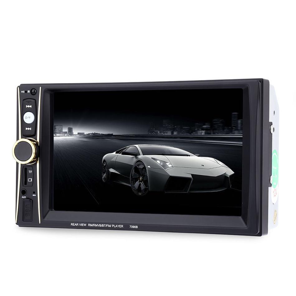 ФОТО 6.5'' Touch Screen 7090B 2 Din Car Radio Bluetooth MP5 Player Stereo Radio Remote Control Rear View Camera for Android Phone
