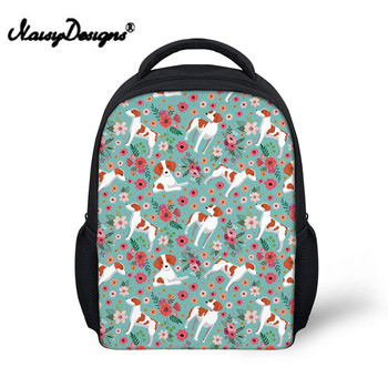 Children Kindergarten Backpack School Bags for Girls Brittany Flower Book Bag Softback Kids Preppy Schoolbag Satchel