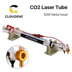 Cloudray Aggiornato CO2 tubo del laser Testa di Metallo 1000 MILLIMETRI 50W Dia.50 Tubo di Vetro Della Lampada per CO2 Incisione del Laser di Taglio macchina