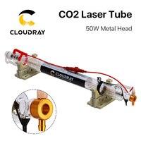 Cloudray Co2 лазерной трубки металлическая голова 1000 мм 50 Вт Dia.55 Стекло трубы для CO2 лазерная гравировка Резка машины