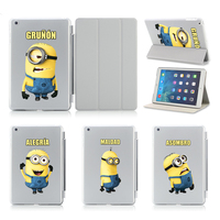 Changeable Minions Slim Thin Pu Leather Case For Apple Ipad Air 2 Case Stand Protector Skin
