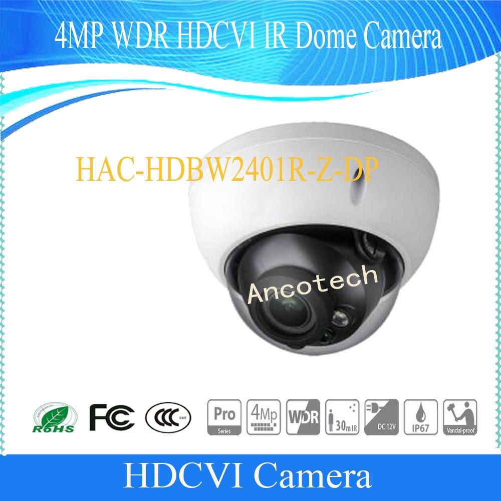 Free Shipping DAHUA Security Camera 4MP WDR HDCVI IR Dome Camera IP67 IK10 Without Logo HAC-HDBW2401R-Z-DP dahua 2 1mp 1080p vandal proof wdr ir hdcvi mini dome camera ip67 ik10 security cctv outdoor camera without logo hac hdbw2221e